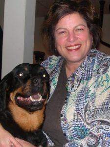 photo of Diane and her dog, Tikki